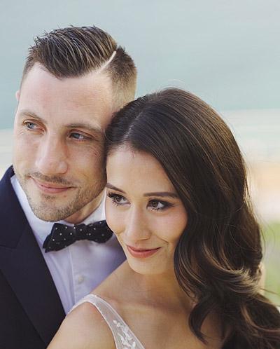 couple de mariés à eze
