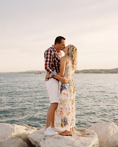 séance couple au bord de mer