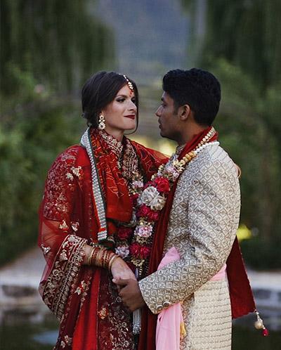couple mariés franco-indien