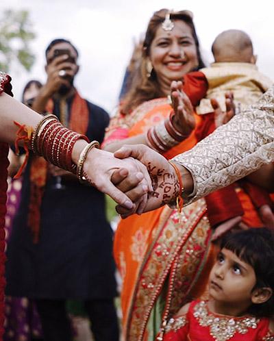cérémonie d'un mariage indien